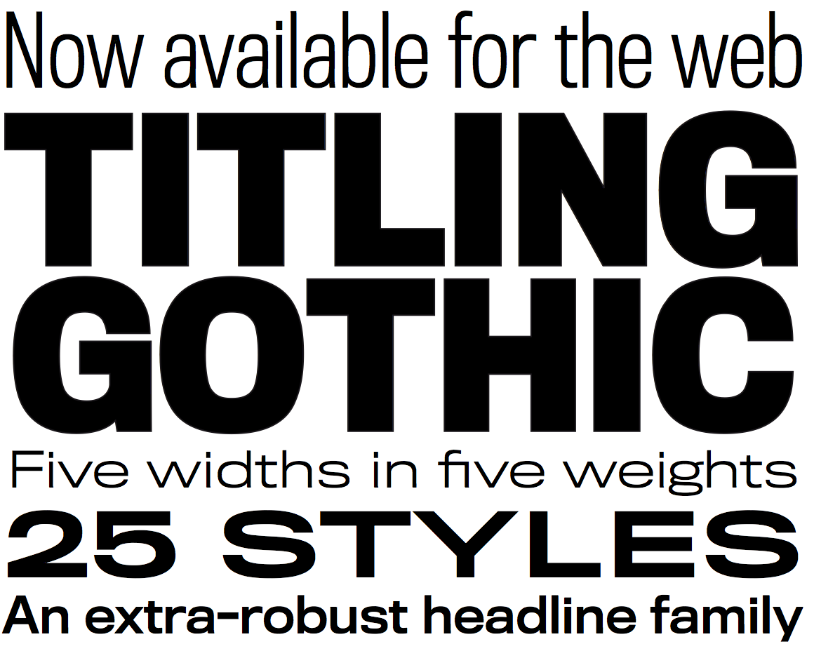 Titling Gothic Family