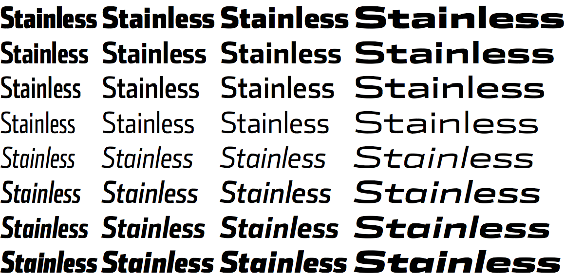 Stainless styles